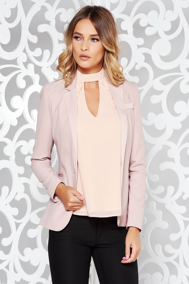 Rosa jacket office tented nonelastic fabric with inside lining with pockets