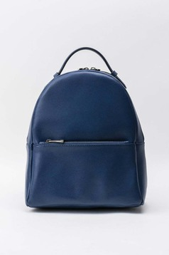 Darkblue backpacks casual natural leather