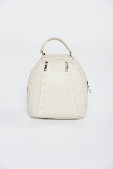 Nude backpacks casual natural leather