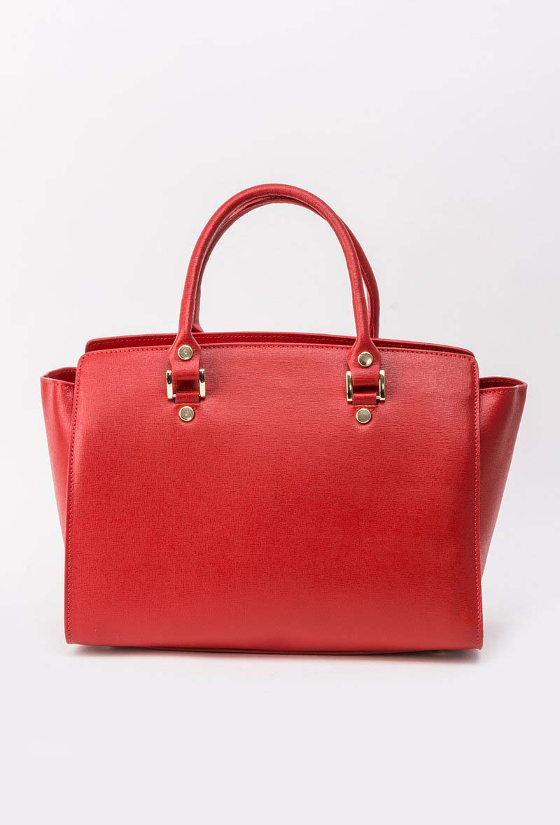 Red bag office natural leather