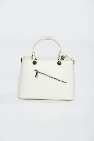 Nude bag office natural leather medium grab handles
