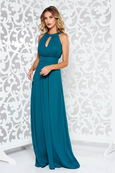 LaDonna darkgreen dress occasional cloche from veil fabric with inside lining with push-up cups