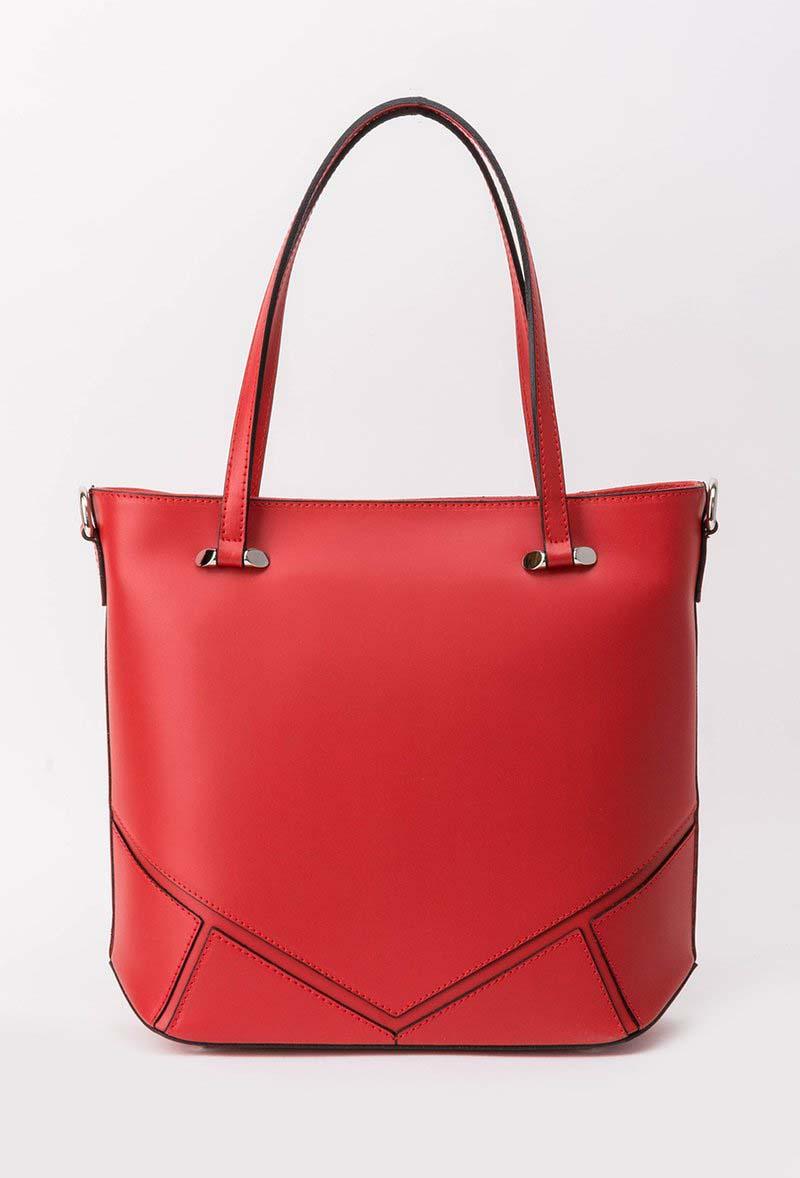 Geanta dama rosie office din piele naturala cu manere scurte