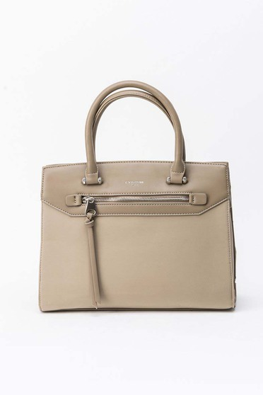 Khaki bag office from ecological leather