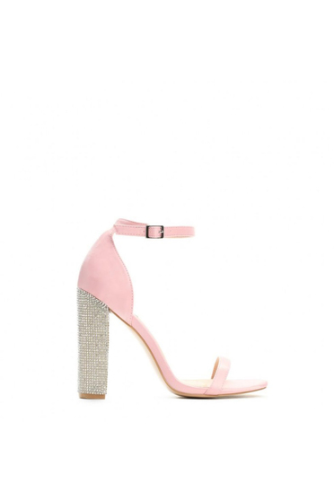 Rosa occasional sandals with crystal embellished details from ecological leather