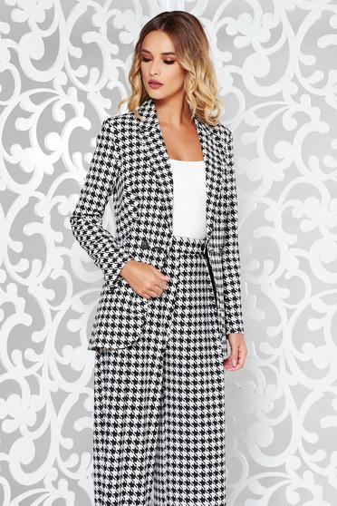 StarShinerS white office blazer tented jacket slightly elastic fabric