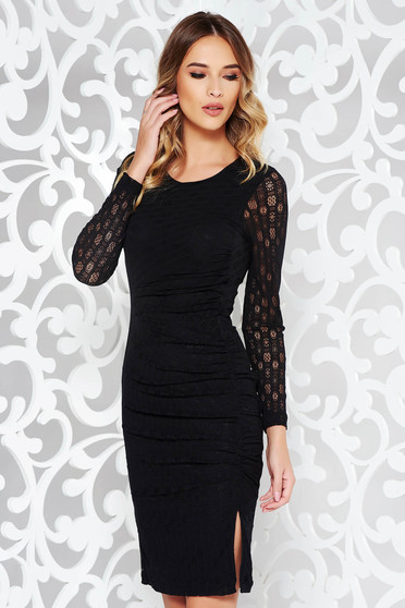 StarShinerS black occasional pencil dress from laced fabric