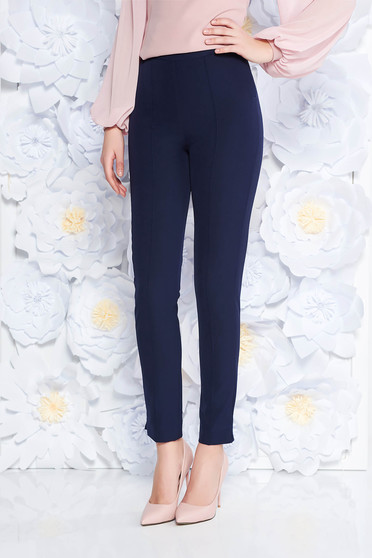 StarShinerS darkblue elegant office trousers high waisted slightly elastic fabric