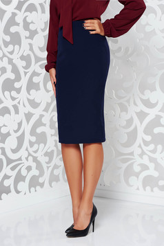 StarShinerS darkblue high waisted office pencil skirt slightly elastic fabric