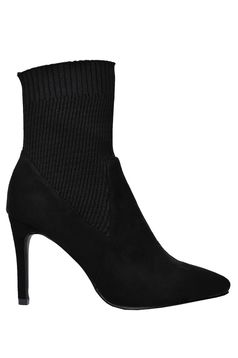 Top Secret black ankle boots slightly pointed toe tip
