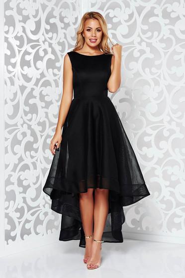 Black occasional cloche dress asymmetrical