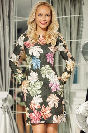 Fofy darkgreen elegant daily a-line dress nonelastic fabric