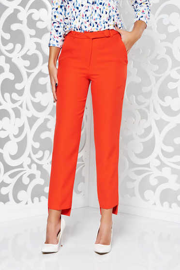 StarShinerS red trousers office conical slightly elastic fabric with medium waist with pockets