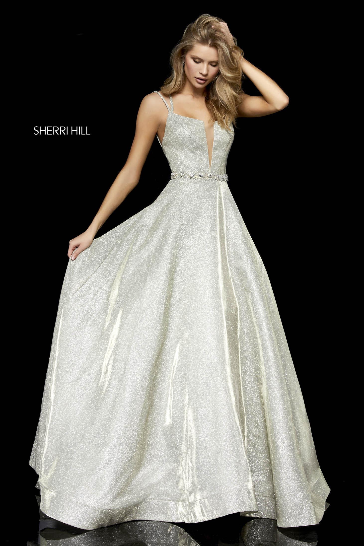 Rochie Sherri Hill 52124 Auriu