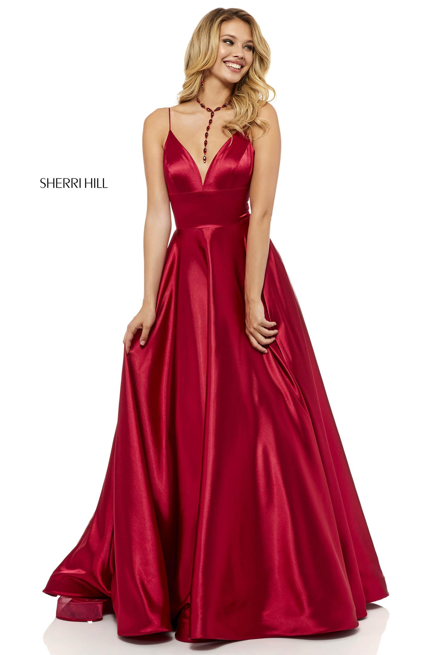 Sherri Hill 52195 Burgundy Dress