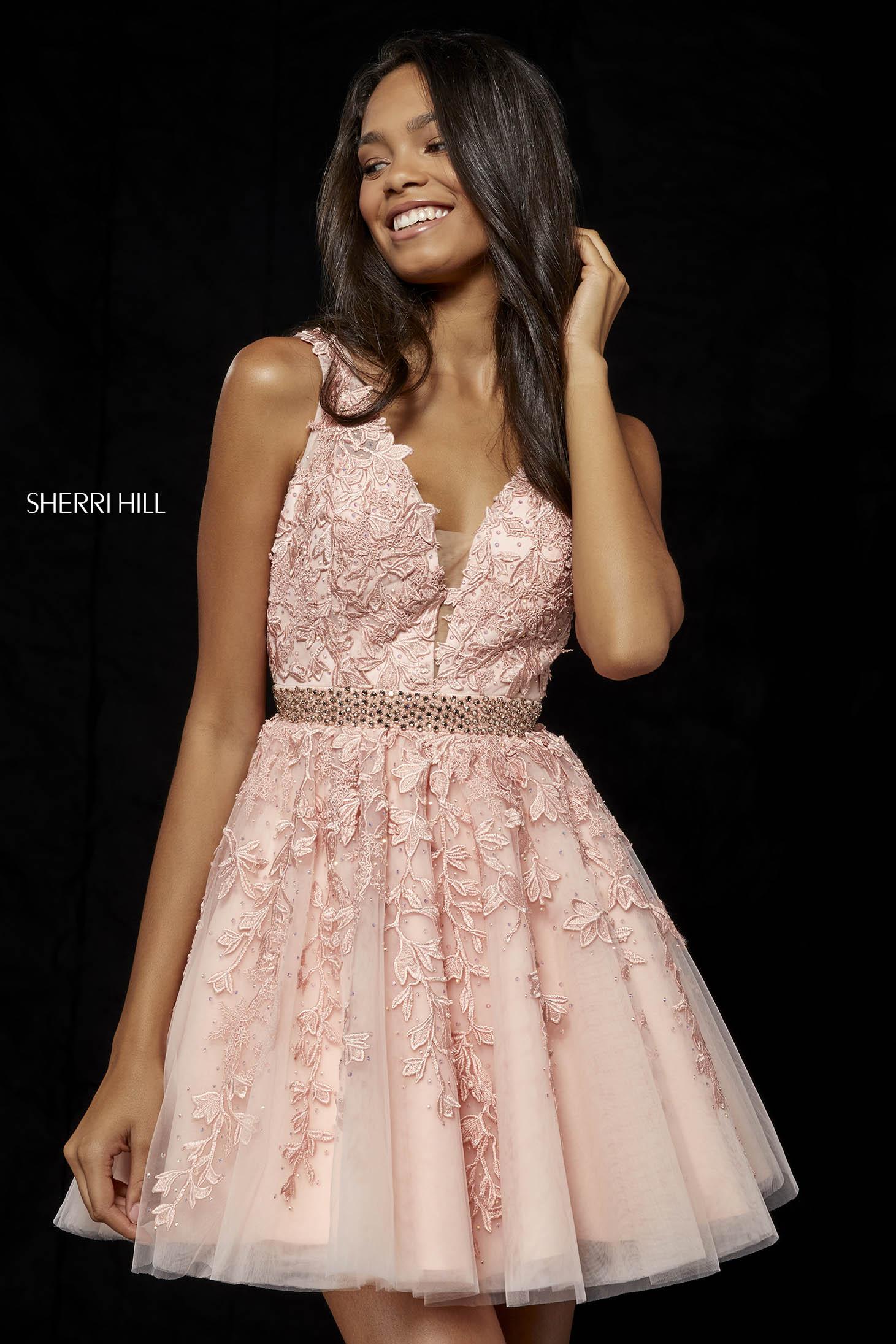 Sherri Hill 52157 LightPink Dress