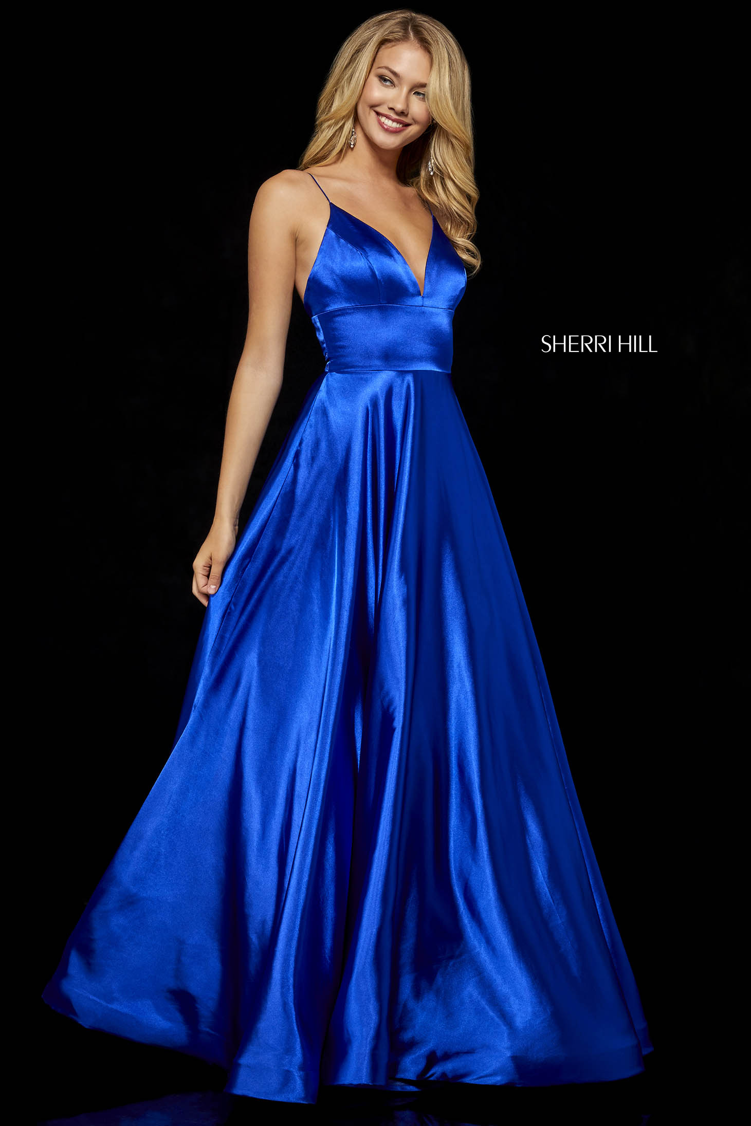 Sherri Hill 52195 Blue Dress