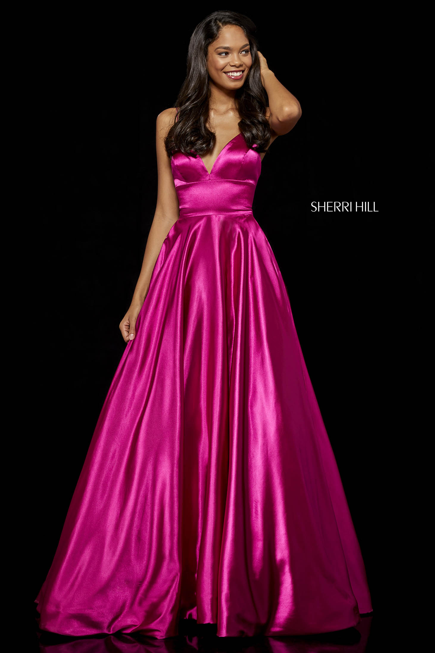 Sherri Hill 52195 Fuchsia Dress