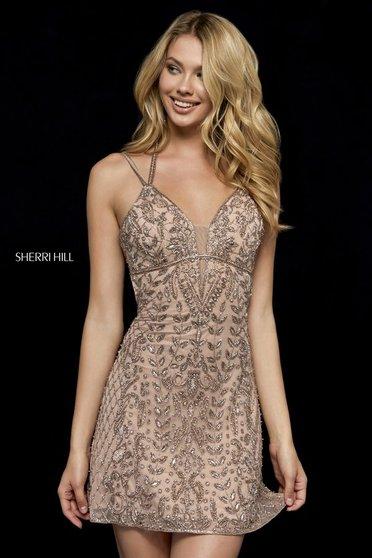 Sherri Hill 52200 Nude Dress