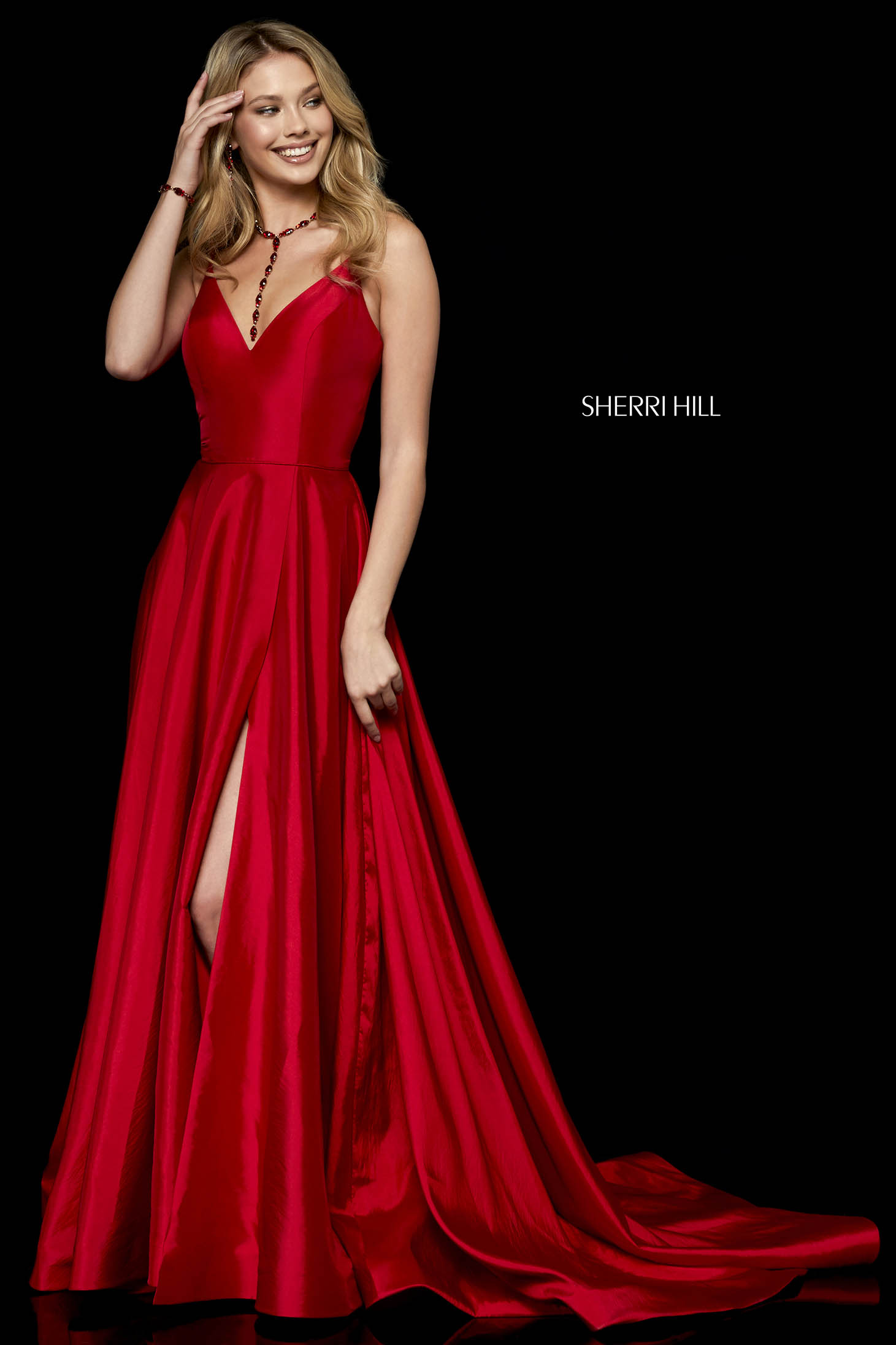 Rochie Sherri Hill 52245 Red
