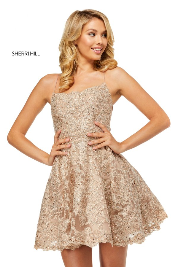 Rochie Sherri Hill 52512 Nude