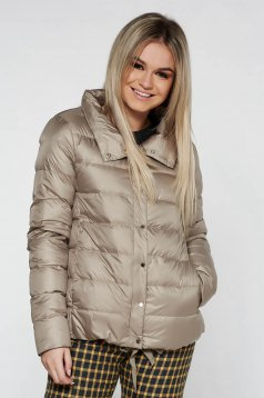 Top Secret cream casual jacket from slicker with inside lining with straight cut