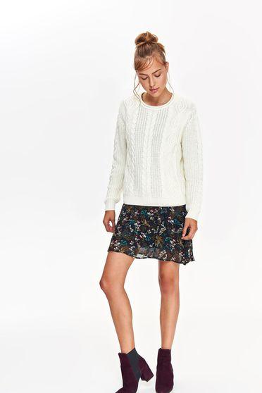 Top Secret S039554 White Sweater