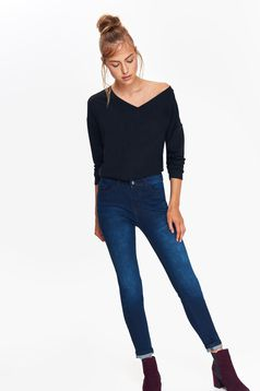 Top Secret darkblue jeans slightly elastic cotton with medium waist with pockets skinny jeans