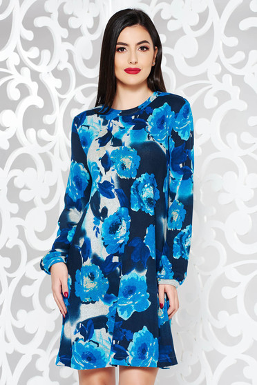 StarShinerS blue daily with easy cut dress knitted fabric