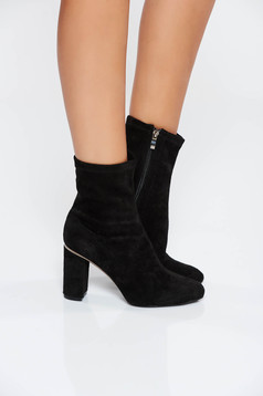Black casual ankle boots