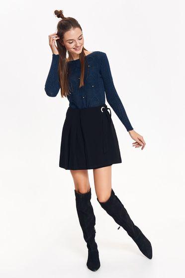 Top Secret black casual with medium waist flared skirt slightly elastic fabric