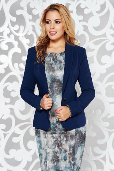 LaDonna darkblue elegant tented jacket slightly elastic fabric with inside lining