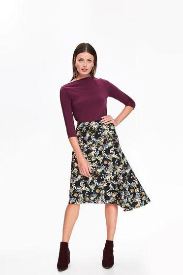 Top Secret black casual cloche asymmetrical high waisted skirt