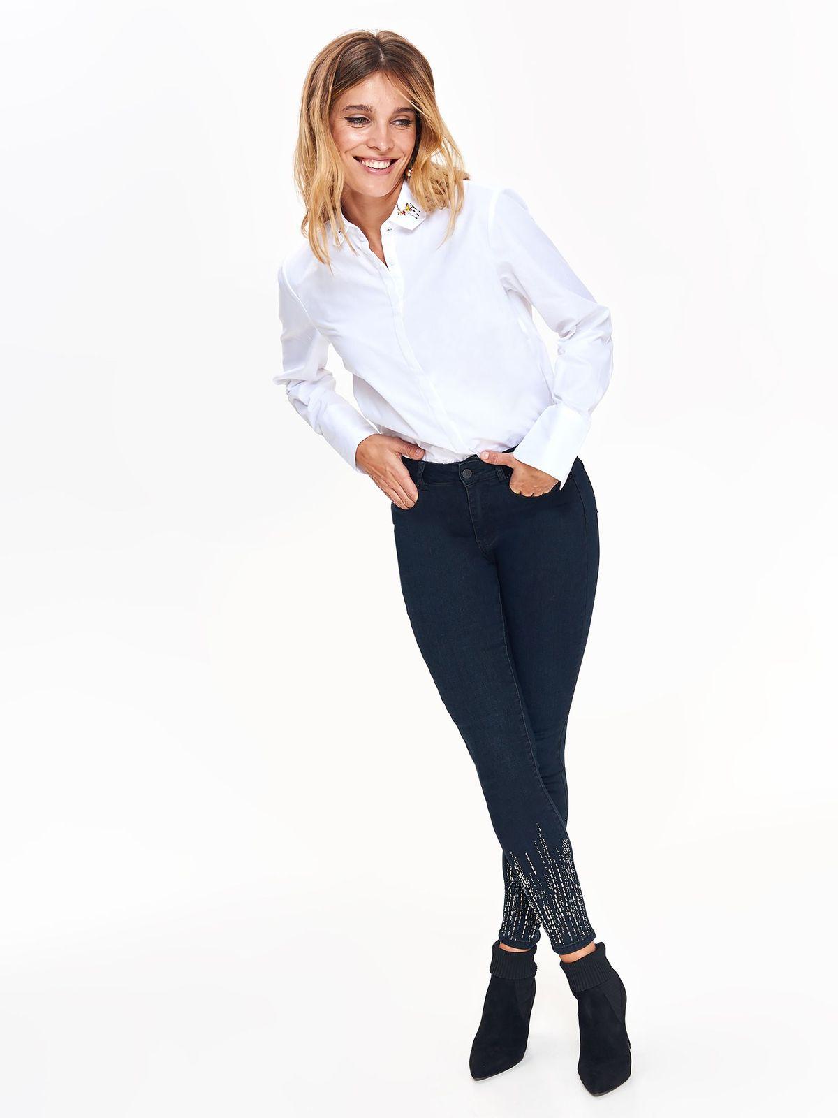 a0054ae888 Fehér Top Secret bő szabású női ing hosszú ujjak