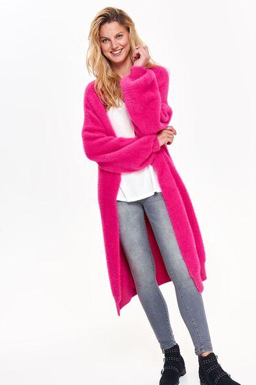 Top Secret darkpink casual cardigan sweater flared knitted