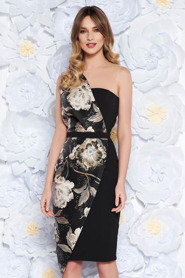StarShinerS black occasional sleeveless pencil dress slightly elastic fabric with inside lining