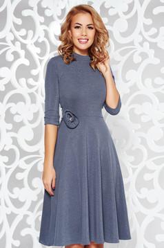 StarShinerS darkblue elegant cloche dress shimmery metallic fabric knitted fabric