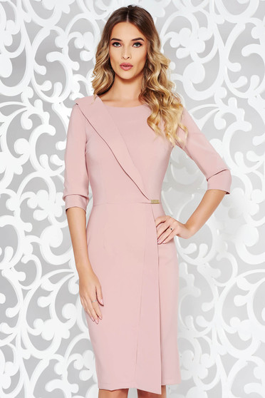 LaDonna rosa dress office pencil slightly elastic fabric with inside lining with 3/4 sleeves