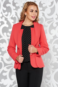 Coral office tented jacket long sleeve from non elastic fabric