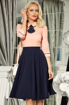 Fofy darkblue cloche skirt high waisted soft fabric office