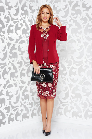 Burgundy lady set elegant from laced fabric