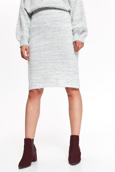 Top Secret S040306 LightGrey Skirt