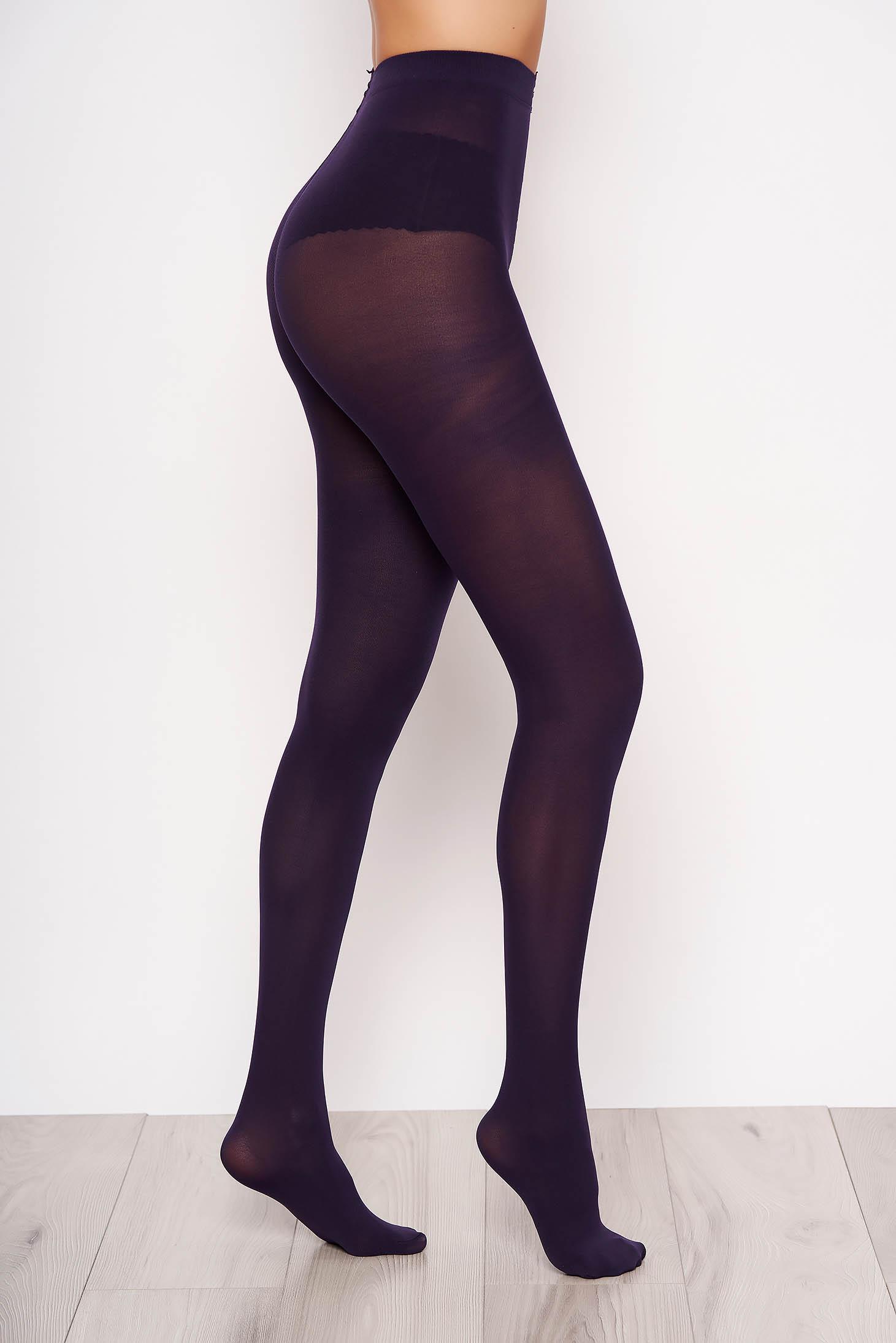 Purple women`s tights 150 den high waisted
