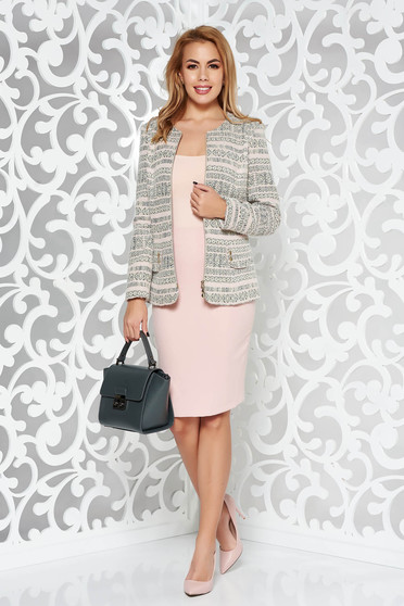 Rosa lady set elegant from non elastic fabric with inside lining with a skirt