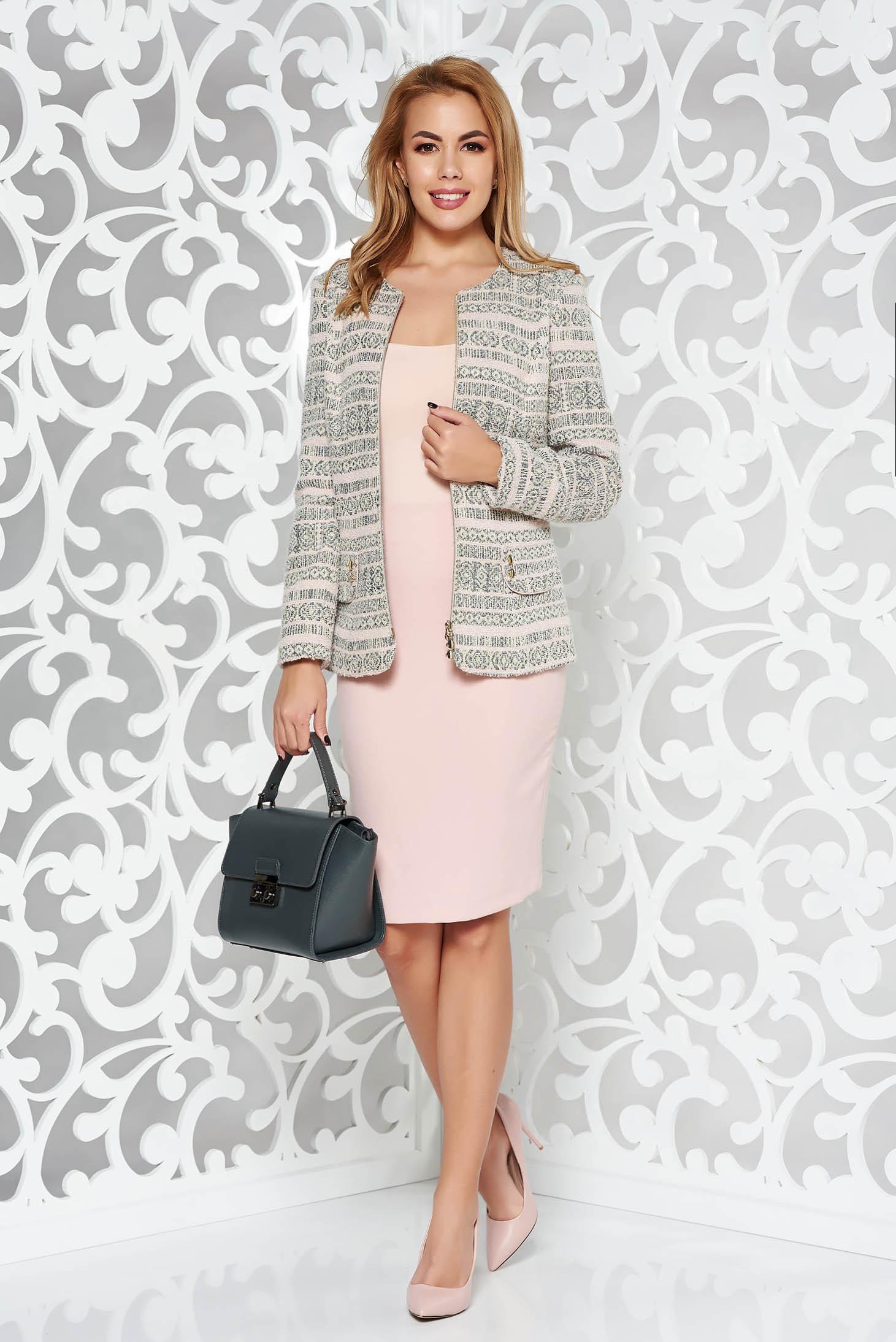 b9b2cf0f84 Rózsaszínű elegáns női kosztüm rugalmatlan szövet belső béléssel szoknyával