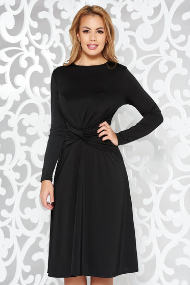 Black occasional cloche dress long sleeved soft fabric