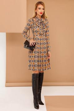 PrettyGirl cream daily cloche dress long sleeved from velvet fabric