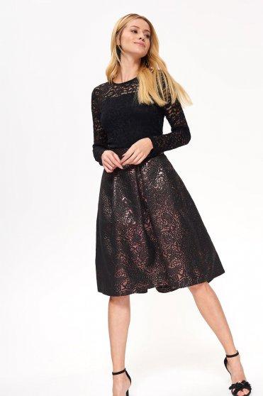 Top Secret gold elegant cloche skirt high waisted shimmery metallic fabric