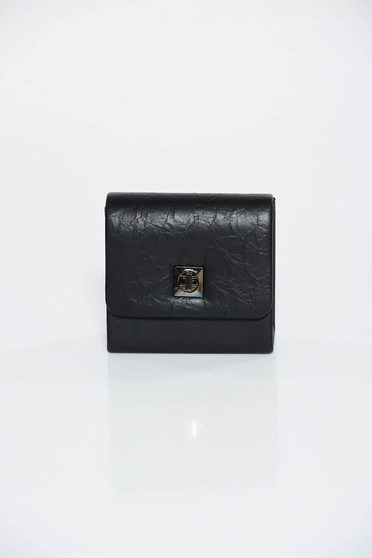 Black bag occasional clutch from ecological leather