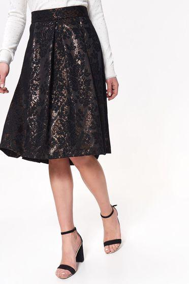 Top Secret gold occasional high waisted cloche skirt